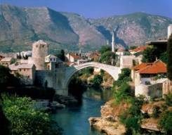 Mostar the second largest city in Bosnia and Herzegovina