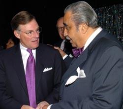 Harold McGraw III and Rep. Charles B. Rangel (D.-N.Y.).