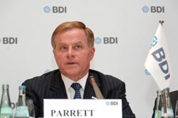 USCIB Chairman William G. Parrett speaking at the G-8 Business Summit in Berlin (Photo: BDI).