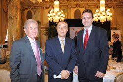 Jesse Wang of China Investment Corp. (center), with USCIB's Stephen Canner and Peter Robinson.