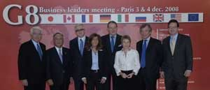 Leaders of the G8 business federations (USCIB President Peter Robinson is at far right).