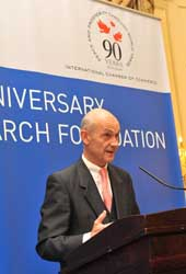 WTO Director General Pascal Lamy spoke at the launch.