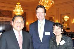 L-R: ICC Chairman Victor Fung, USCIB President Peter Robinson, USCIB Executive Vice President Ronnie Goldberg.