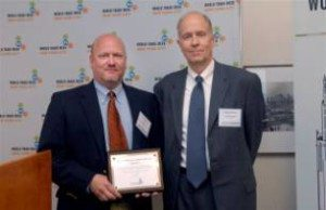 Jim Guzzi of Gotham Sound and Communications (left), a Carnet user and World Trade Week award winner.
