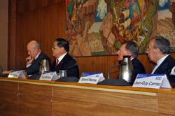 L-R: WTO Director General Pascal Lamy, ICC Honorary Chairman Victor K. Fung, USCIB Chairman (and ICC Vice Chair) Harold McGraw III, and ICC Chairman Gerard Worms.
