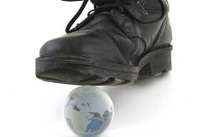 step on globe