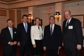 L-R: Terry McGraw (McGraw Hill Financial), Peter Robinson (USCIB), Mari Kiviniemi (OECD), Michael Froman (USTR) and Phil O'Rielly (BIAC).