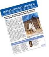 This article appeared in the Winter 2006-2007 issue of International Business, USCIB's flagship publication.  For more information or to subscribe, click here.