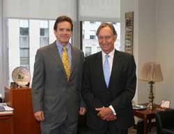 ICC Secretary General Jean Rozwadowski (right) with USCIB President and CEO Peter Robinson.