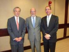 L-R: Christopher Wall (Pillsbury Winthrop), Wesley Scholz (State Dept.) and Daniel Bahar (USTR).