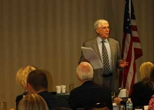 Incoterms® rules expert Frank Reynolds leads a USCIB seminar in Charleston, South Carolina.  New changes to these influential trade rules will have a major impact on company operations.