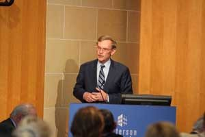 Former World Bank President and U.S. Trade Representative Robert Zoellick spoke at the event.