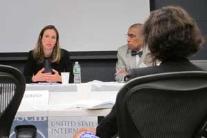 Daniella Ballou-Aares (State Department) and Clifford Henry (Procter & Gamble) at the UN door-knock consultations