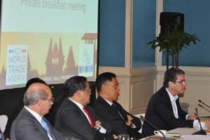 WTO Director General Roberto Azevedo described the role of the business community in pushing for a deal as absolutely critical.