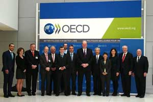Participants at the annual BIAC Liaison Committee Meeting with the OECD