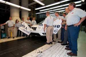 A Nissan Rogue rolls off the assembly line at Nissan's Smyrna, Tenn. plant in October 2013, the 10 millionth vehicle produced at the facility.