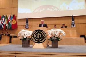 Ed Potter (Coca-Cola) addressed the ILO Conference in Geneva on June 10.
