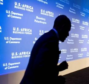 President Obama arrives on stage at the U.S. Africa Leaders Summit. Official White House Photo by Pete Souza