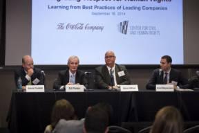 L-R: James Plunkett (U.S. Chamber of Commerce), Ed Potter (Coca-Cola), Brent Wilton (IOE) and Ariel Meyerstein (USCIB)