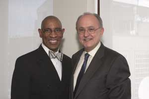 Clifford Henry (left) with Professor John Ruggie of Harvard, then the UN special rapporteur for business and human rights, in 2010.