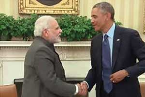 President Obama with Indian Prime Minister Narendra Modi at the White House in September (White House photo)