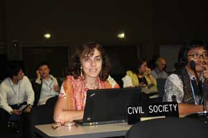 USCIB's Norine Kennedy at last year's COP17 climate meeting in Durban, South Africa