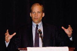 H. Fisk Johnson speaking at USCIB's annual award gala