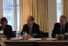 L-R: Josefa Sicard-Mirabal (ICC), Stephen E. Smith (Lockheed Martin), Mark Beckett (Latham & Watkins)