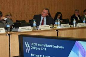 USCIB's Rob Mulligan at the OECD International Business Dialogue