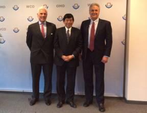 L-R: John Danilovich (ICC), Kunio Mikuriya (WCO) and Norman Shenk (UPS).