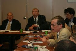 L-R: IOE President Abraham Katz, Ivan Ivanov (WHO), David Bell (Centers for Disease Control), Jeffrey Gilbert (Pfizer).