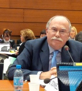 USCIB's Shaun Donnelly represents American business at UNCTAD on February 25, 2015.