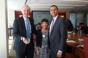 L-R: Ed Potter (Coca-Cola), Ronnie Goldberg (USCIB) and Ariel Meyerstein (USCIB)