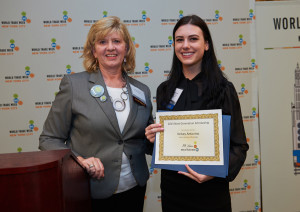 Cindy Duncan (USCIB) and Kelsey Antonino (Fashion Institute of Technology)